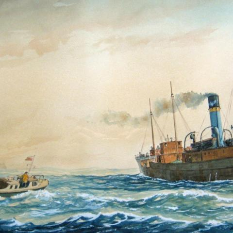 Pilot boat, Steam Coaster,UK,  Adshead, Eade,