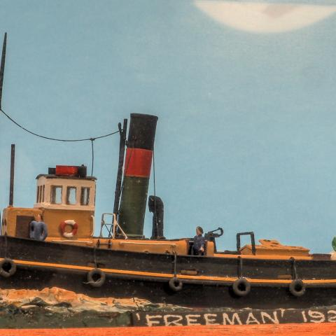 UK tug model, Freeman 1928, Richard Adshead Models