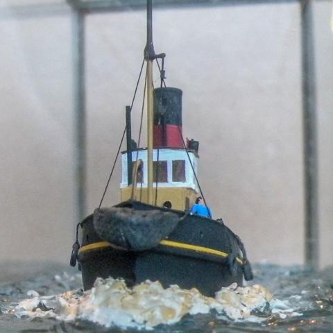 Marine model, Tug, Richard Adshead, Freeman 1928