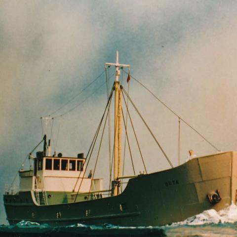 MV Beta circa 1936. Model size 15 inches Bill Tolley photo