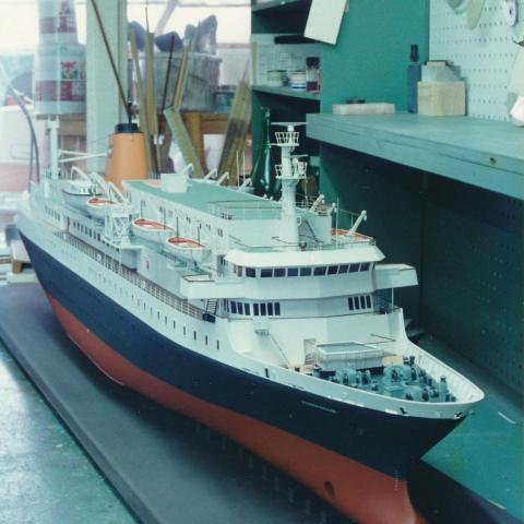 MV Prinsendam circa  1978. Model size 4 ft  2inches