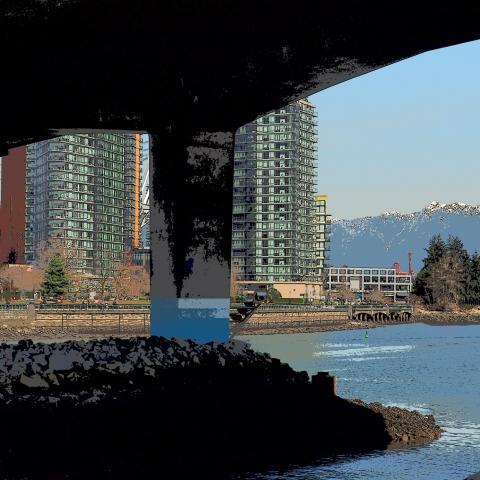 Cambie Street Bridge, Vancouver, False Creek, Condos,