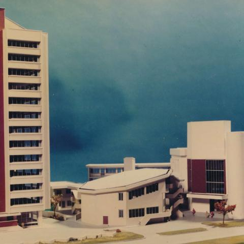 Architects model of the Yabba Baptist Church complex in Lagos.