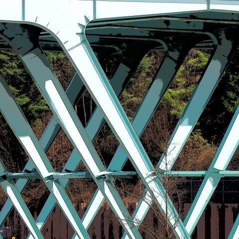 bridge, Support, bh, old Bridge, 1960's bridge, Canadian bridge structure