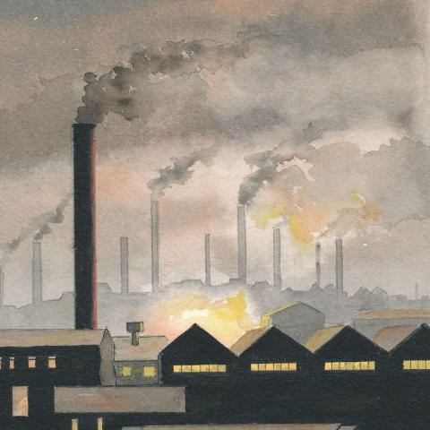 1920 Factory painting, British Midlands
